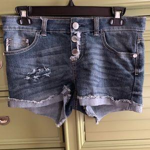 Red/White/Blue Pocket Denim Shorts